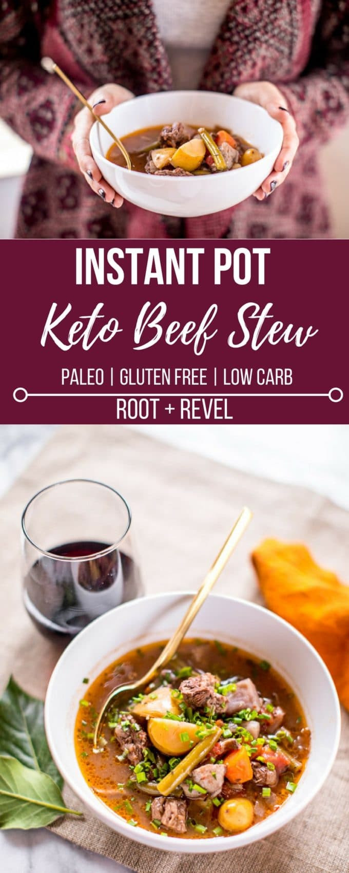 Instant Pot Keto Recipes  Keto Beef Stew in the Instant Pot or Slow Cooker