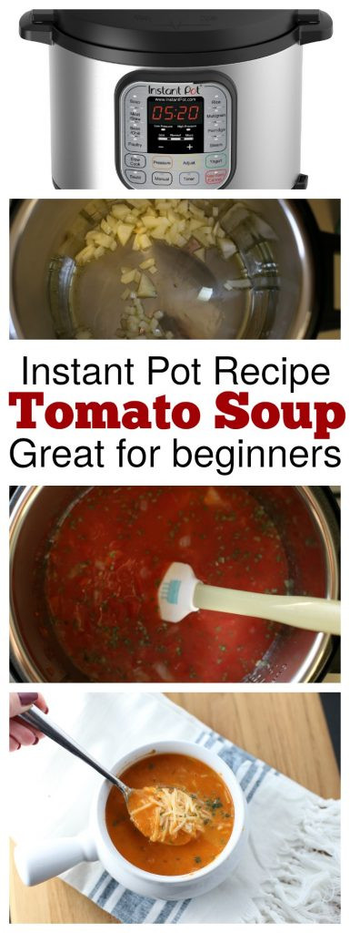 Instant Pot Low Calorie Recipes  Instant Pot Tomato Basil Soup