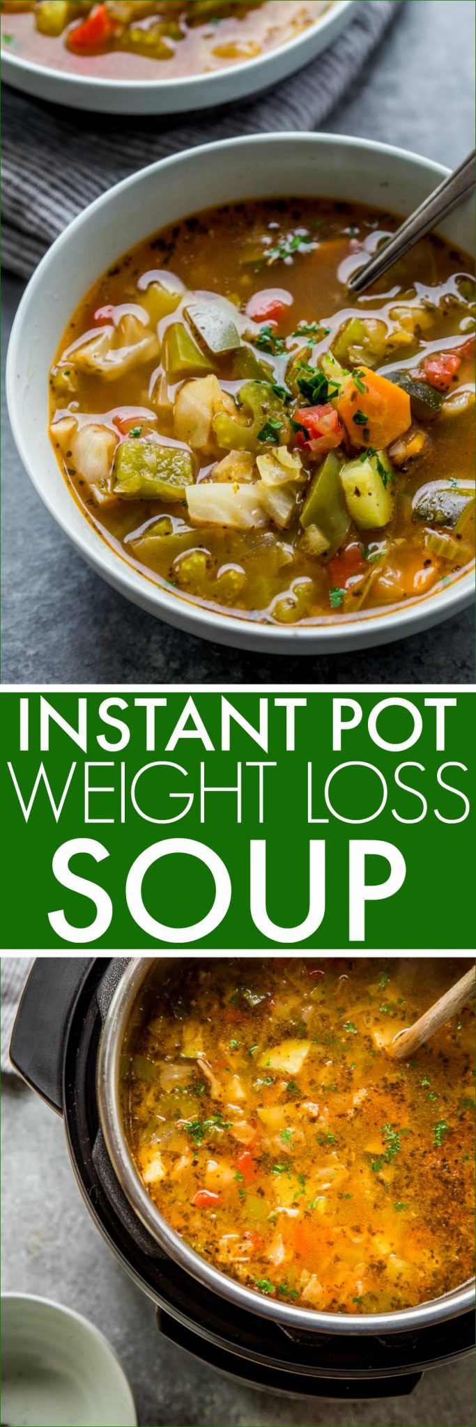 Instant Pot Low Calorie Recipes  Instant Pot Weight Loss Soup with Stovetop Instructions