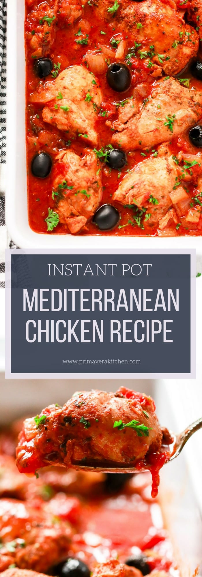 Instant Pot Low Calorie Recipes  Instant Pot Mediterranean Chicken Recipe Primavera Kitchen