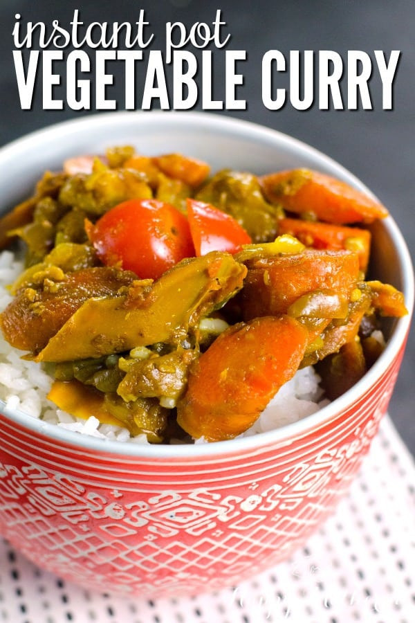 Instant Pot Vegetarian Recipes Indian  Instant Pot Ve able Curry for Meatless Monday Happy