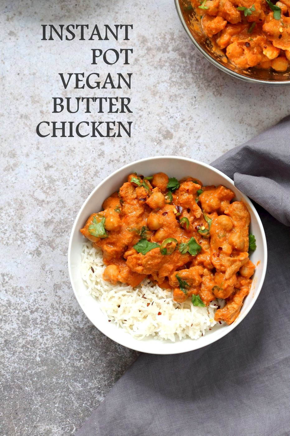 Instant Pot Vegetarian Recipes Indian  Instant Pot Vegan Butter Chicken with Soy Curls and