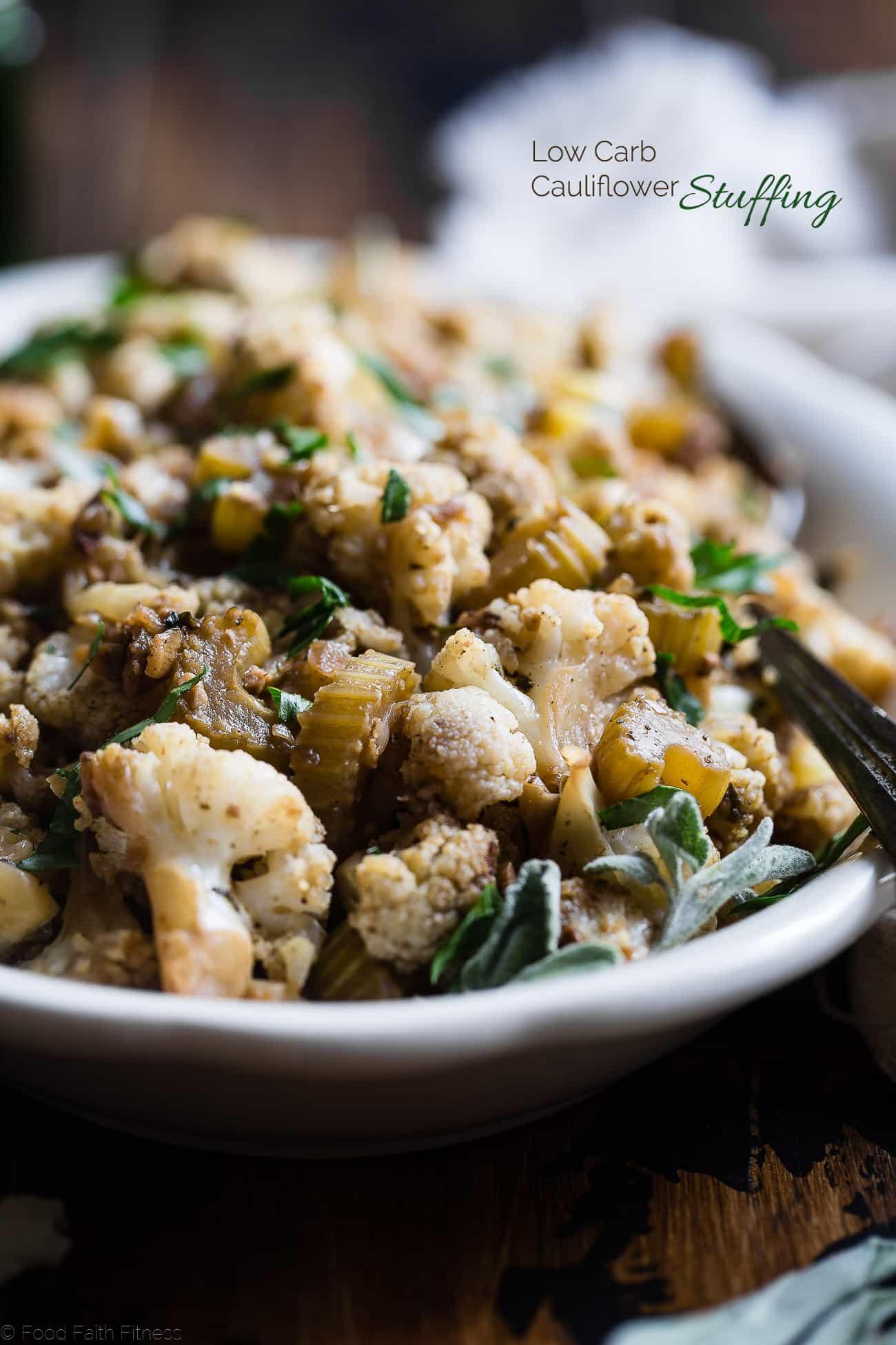 Is Cauliflower Low Carb  Cauliflower Low Carb Paleo Vegan Stuffing