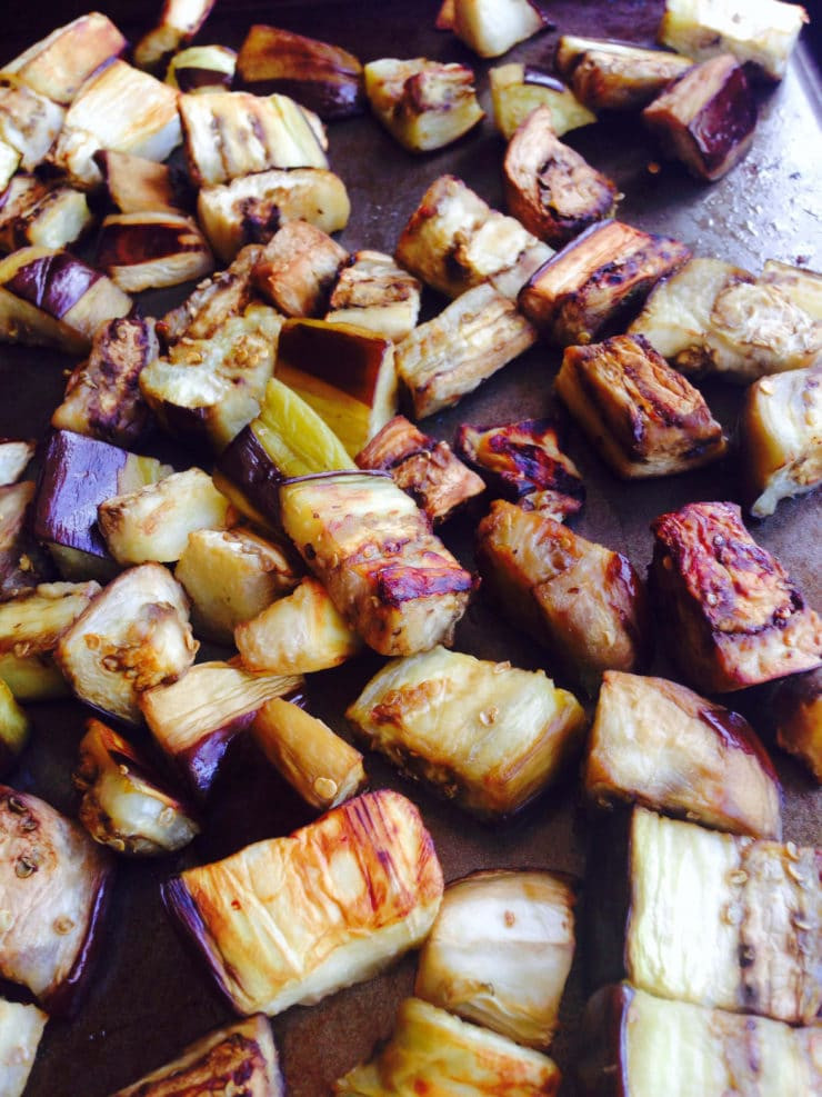 Is Eggplant Healthy  How to Roast Eggplant Cubes Easy Healthy Tutorial