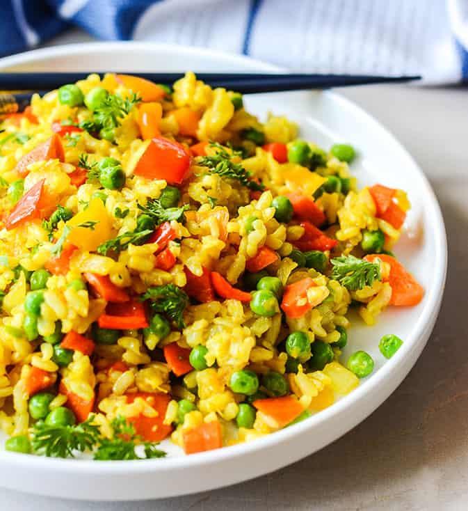 Is Fried Rice Vegan  Easy Vegan Fried Rice Healthier Steps