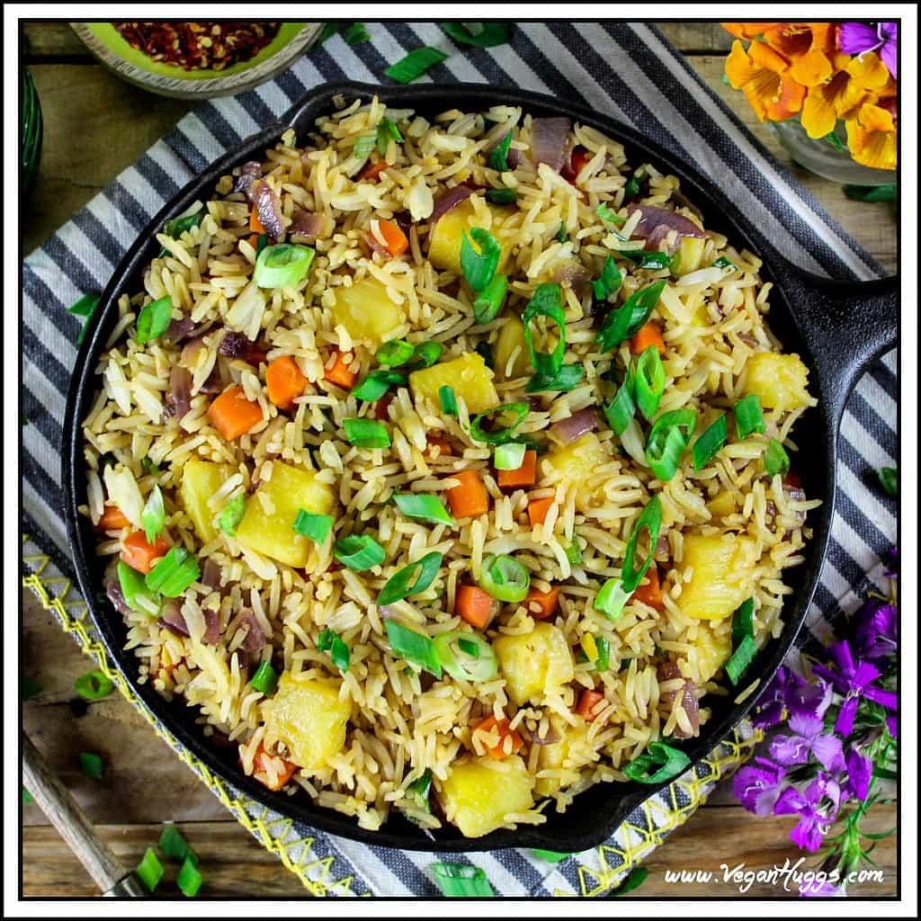 Is Fried Rice Vegan  Easy Pineapple Fried Rice Vegan & GF Vegan Huggs