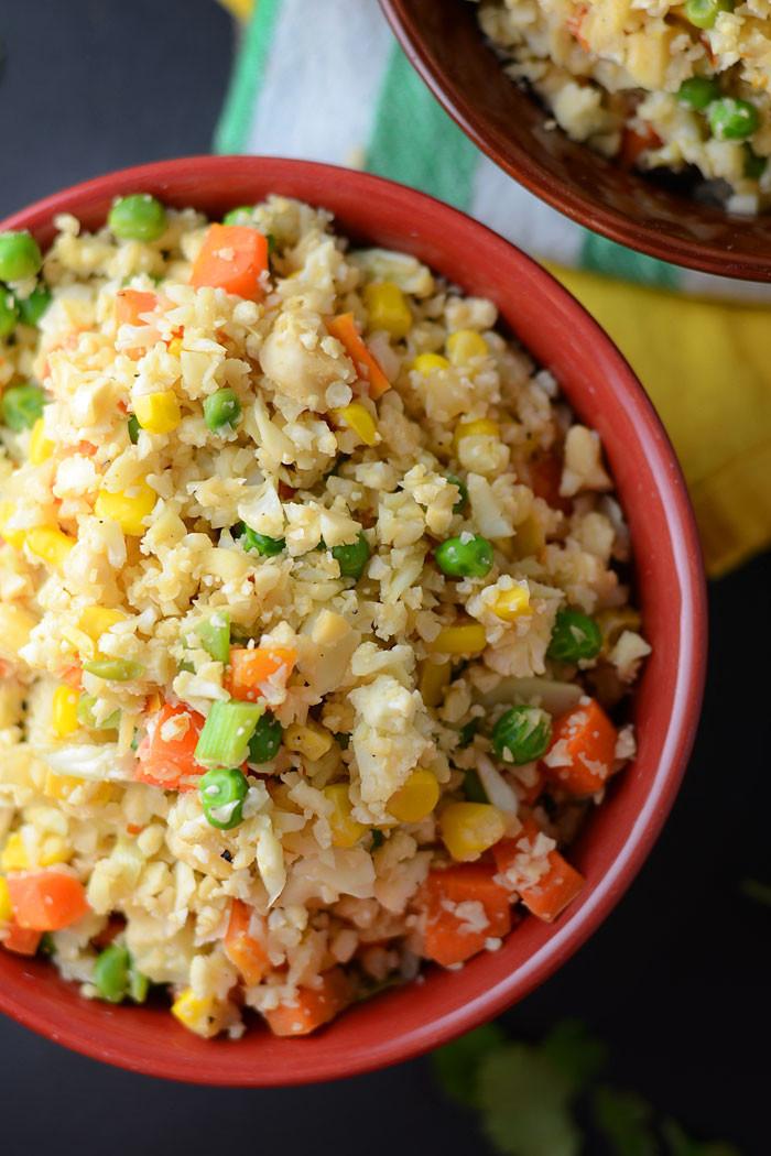 Is Fried Rice Vegan  Healthy Vegan Cauliflower Fried Rice