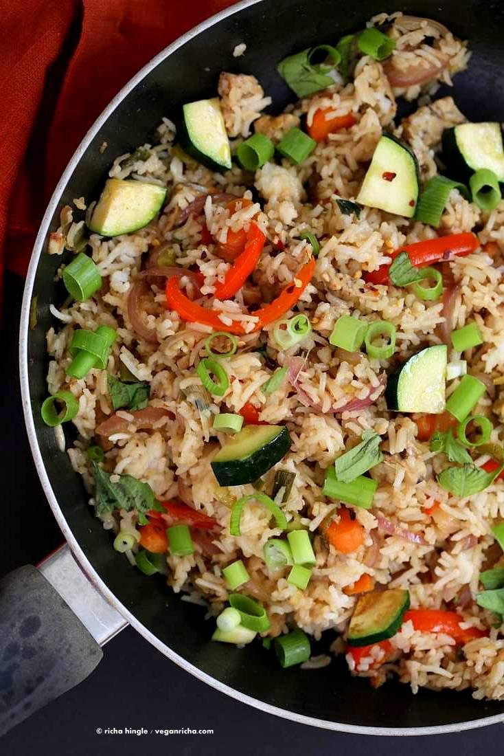 Is Fried Rice Vegan  Vegan Thai Basil Fried Rice Vegan Richa