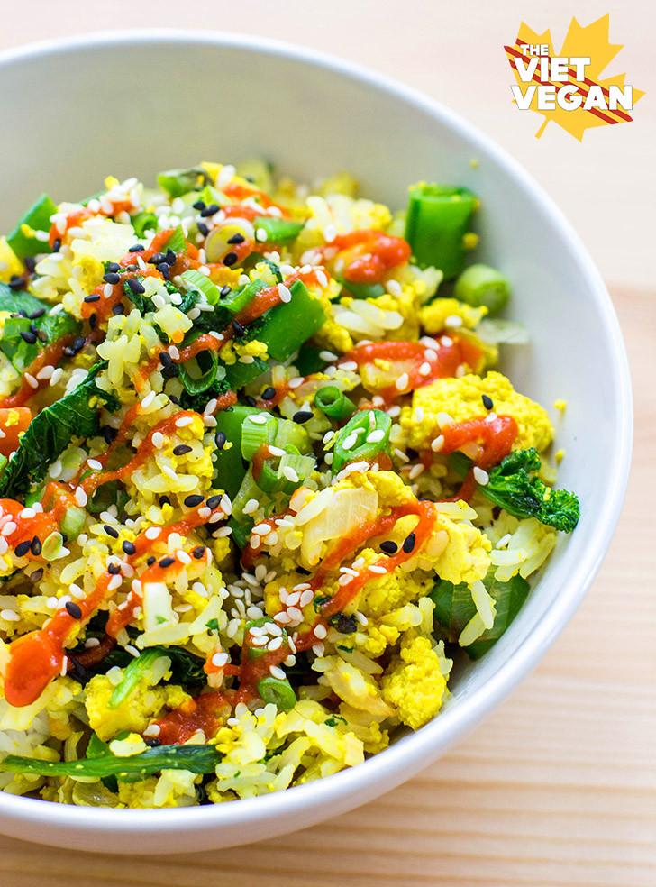 Is Fried Rice Vegan  Vegan Egg Fried Rice The Viet Vegan