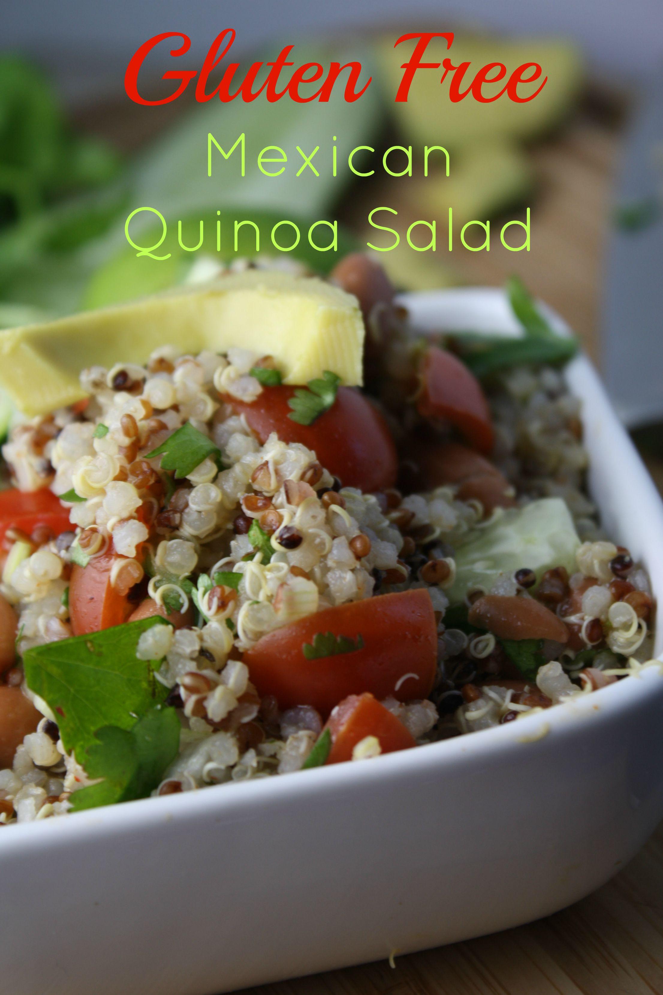Is Quinoa Gluten Free  Mexican Quinoa Salad Tessa the Domestic Diva