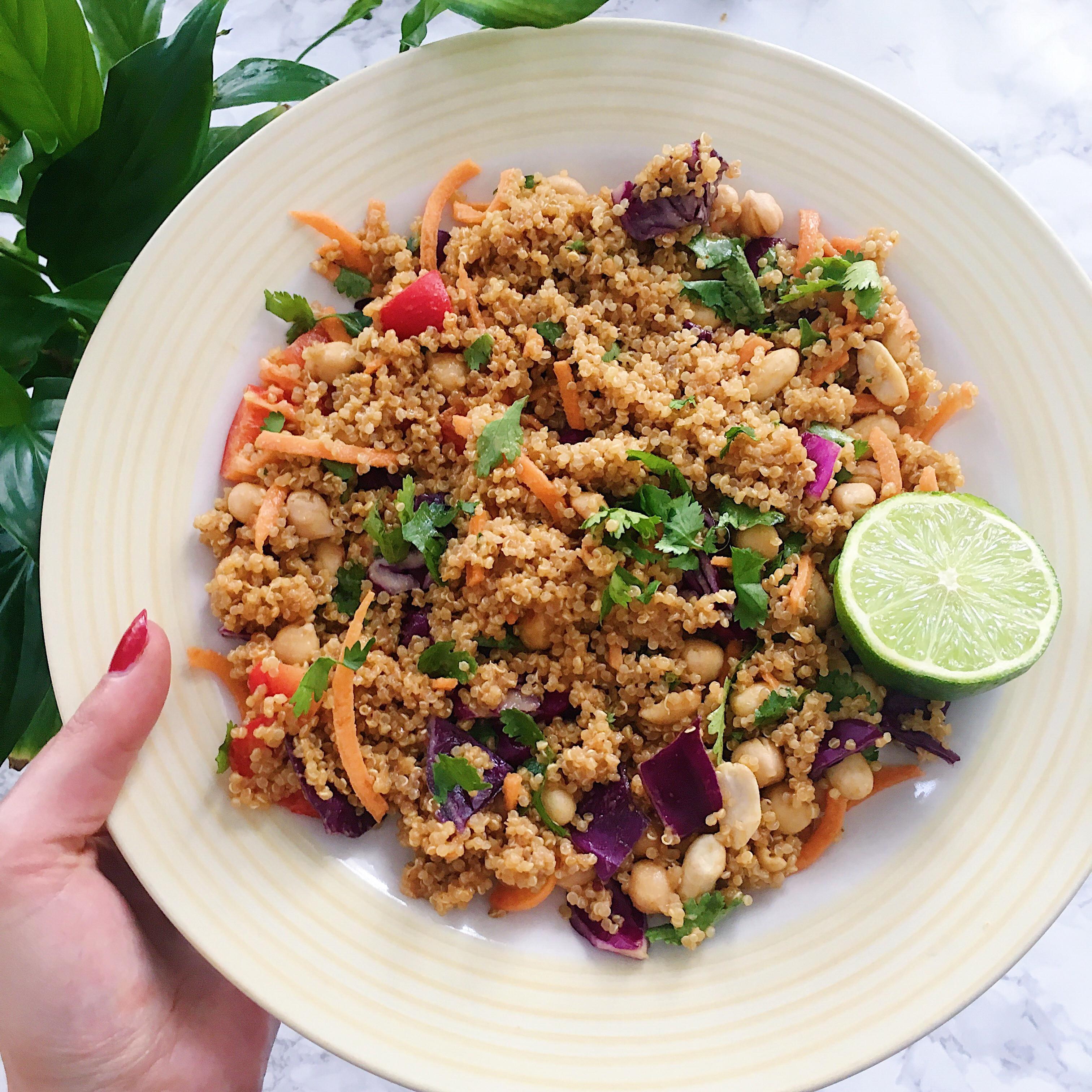 Is Quinoa Gluten Free  Thai Quinoa Salad Recipe – Vegan Gluten Free