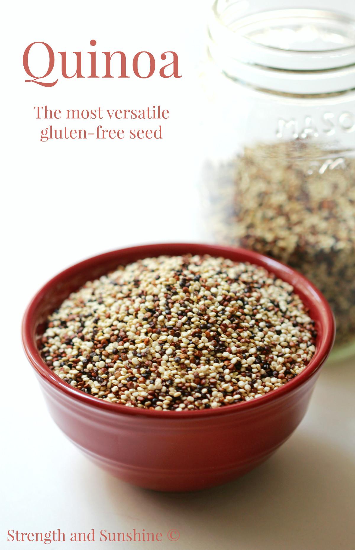 Is Quinoa Gluten Free  Quinoa The Most Versatile Gluten Free Seed