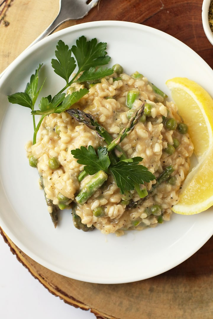 Is Risotto Vegan  Vegan Risotto with Asparagus and Peas