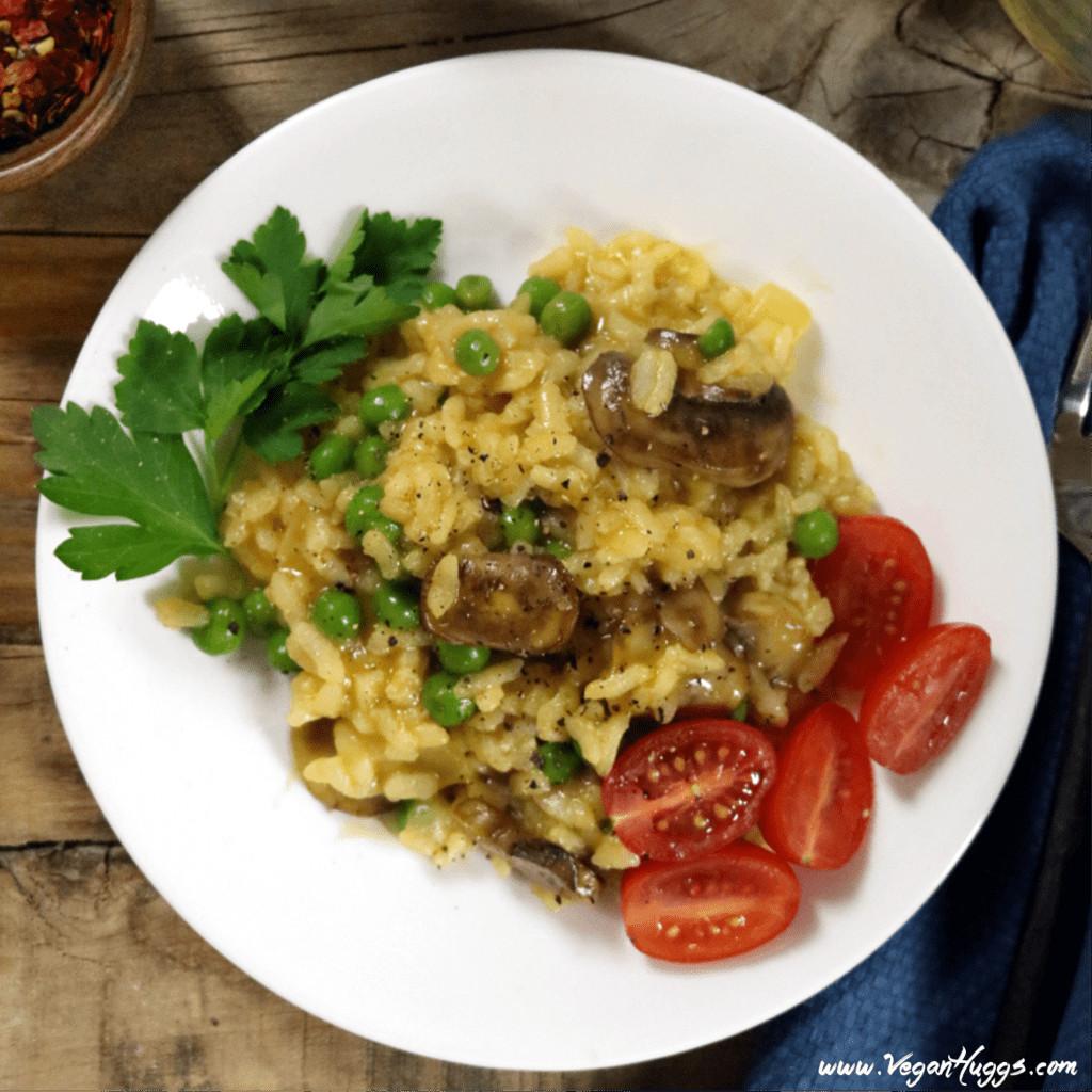 Is Risotto Vegan  Creamy Vegan Mushroom Risotto w Peas Gluten Free