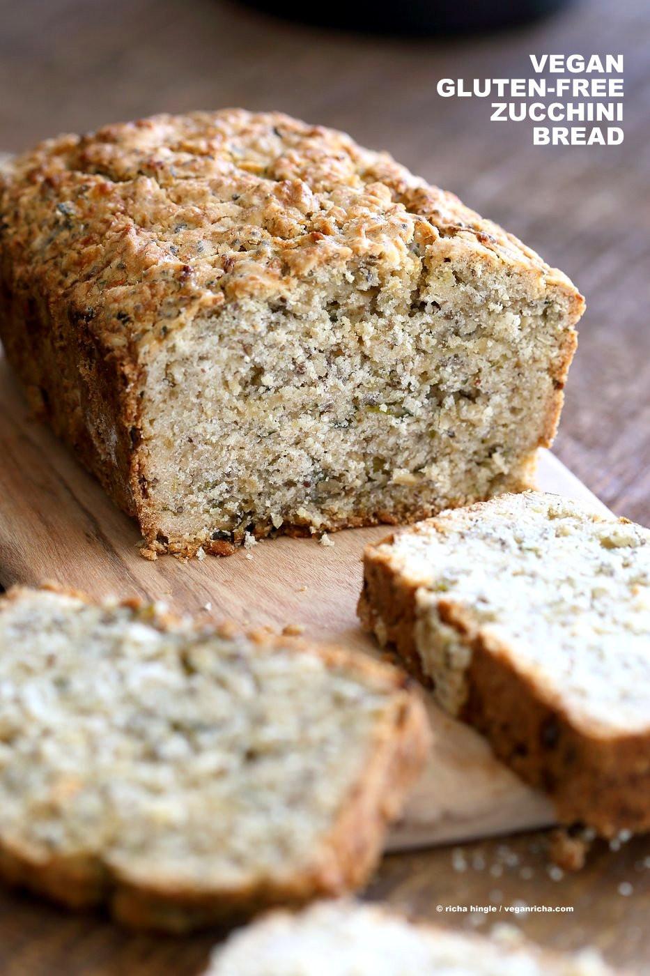 Is There Vegan Bread  Vegan Gluten free Zucchini Bread Recipe Vegan Richa