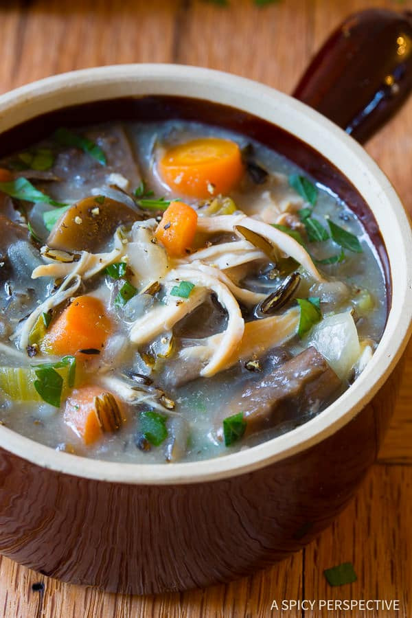 Is Wild Rice Healthy  Slow Cooker Chicken Wild Rice Soup Healthy A Spicy