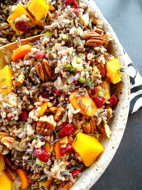 Is Wild Rice Healthy  Wild Rice Pilaf with Squash Cranberries and Pecans – Good