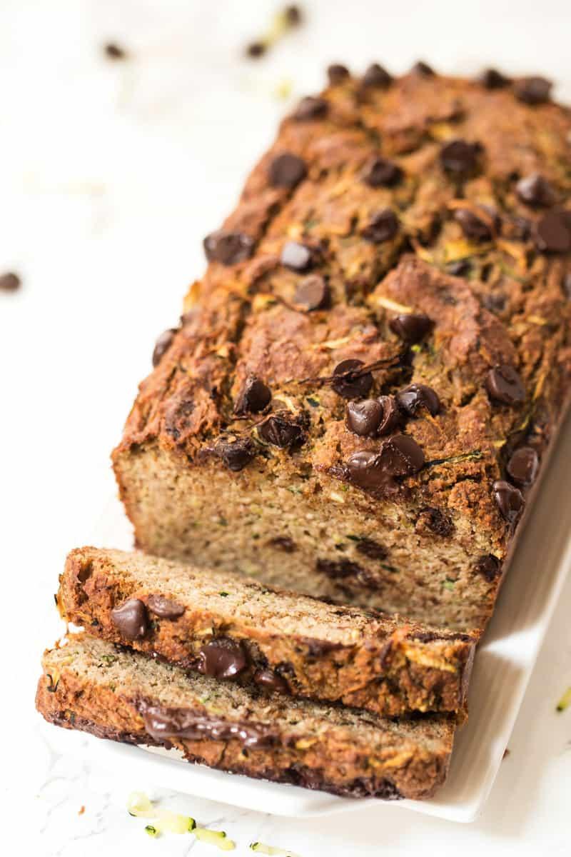 Is Zucchini Bread Healthy  Healthy Chocolate Chip Zucchini Bread Simply Quinoa