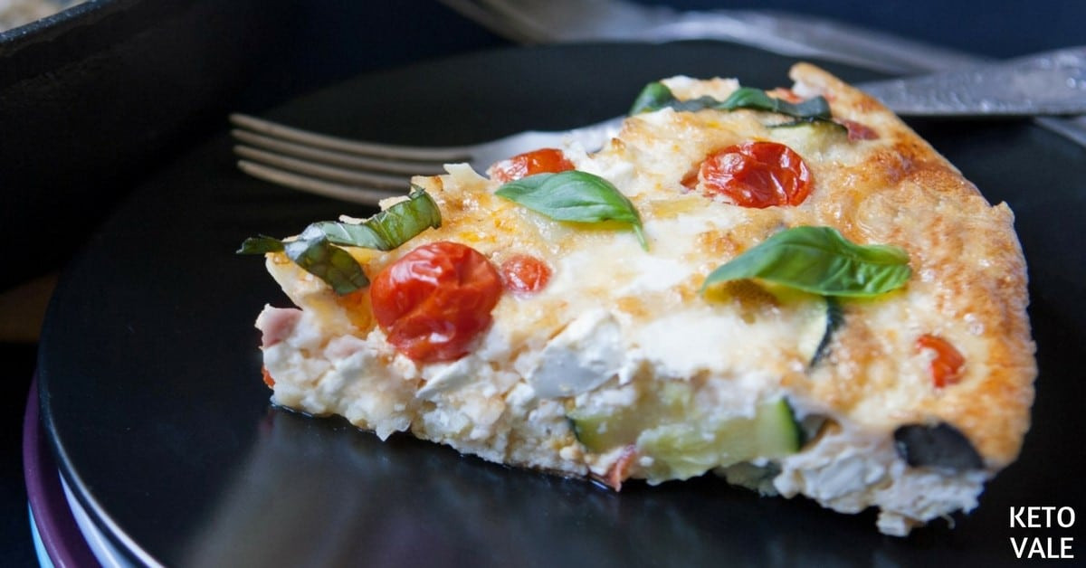 Is Zucchini Keto  Zucchini Cherry Tomatoes Frittata Low Carb Recipe
