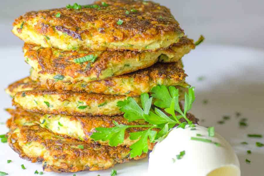 Is Zucchini Keto  Low Carb Ketogenic Zucchini and Parmesan Fritters