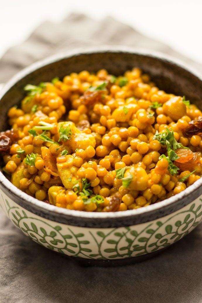 Israeli Vegetarian Recipes  Curried Israeli Couscous Recipe