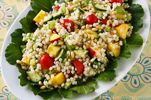Israeli Vegetarian Recipes  Israeli Couscous Summer Pilaf
