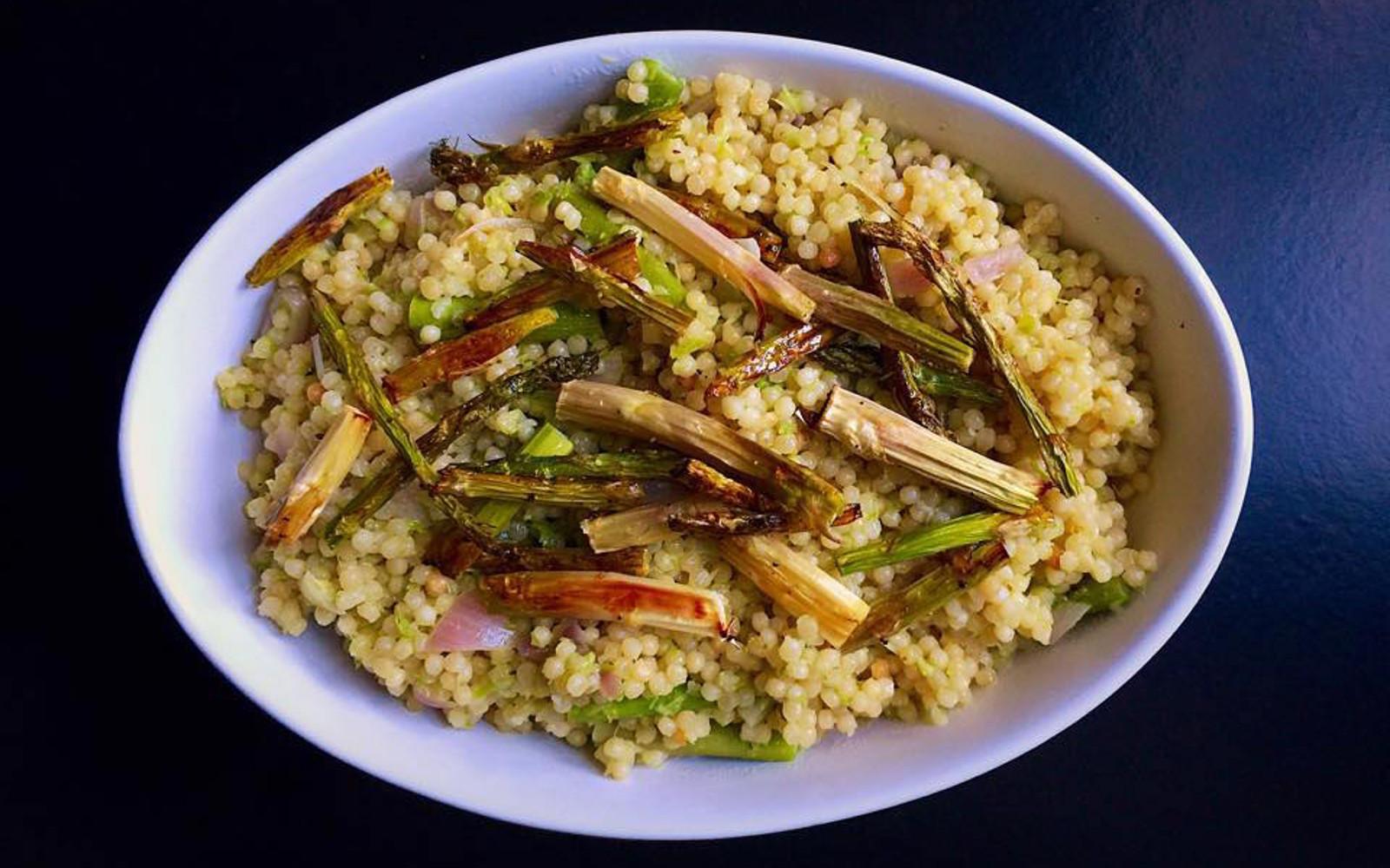 Israeli Vegetarian Recipes  Israeli Couscous Risotto [Vegan] e Green Planet e