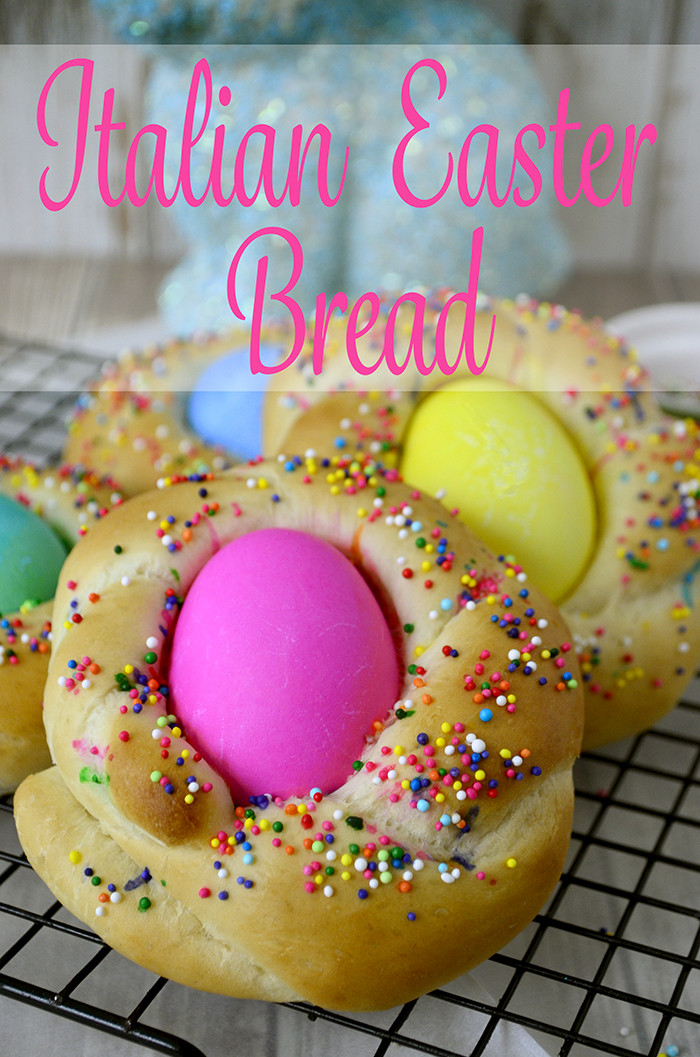 Italian Easter Bread Name  Baby Italian Easter Bread Pink Cake Plate