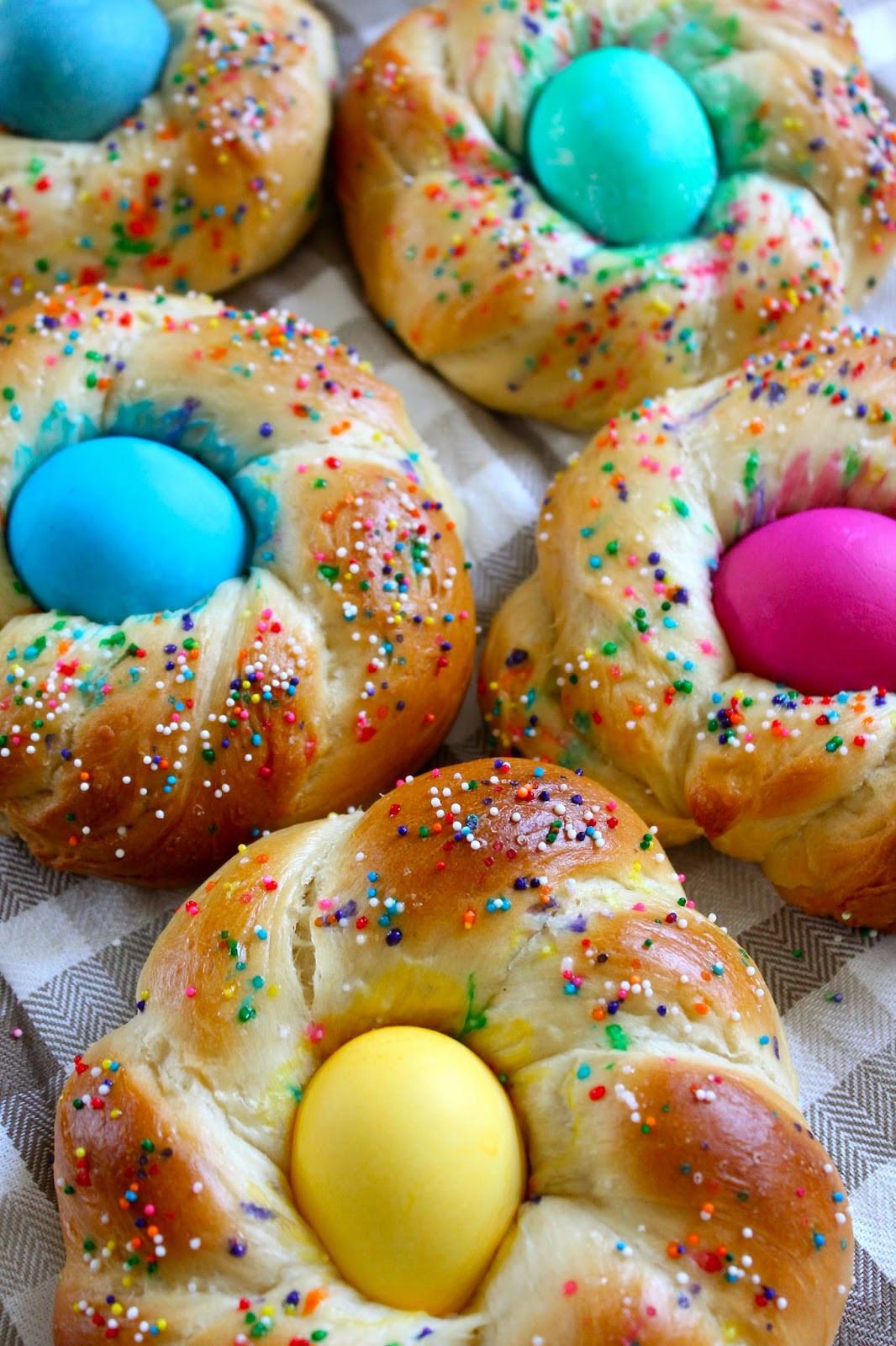 Italian Easter Egg Bread Recipe  The Cultural Dish Recipe Italian Easter Egg Bread