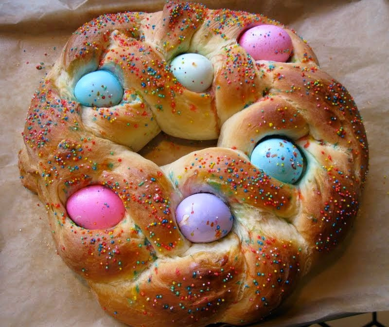 Italian Easter Egg Bread Recipe  Row homes and Cobblestones Ancient Spring Legends became