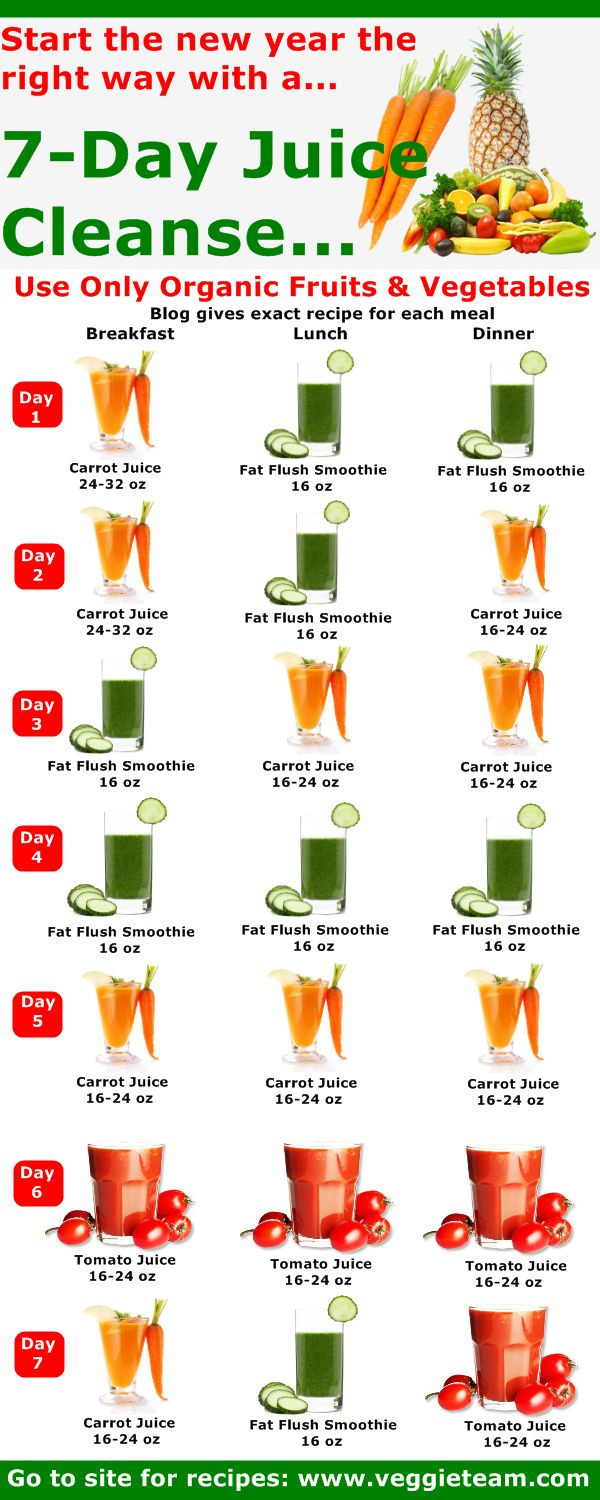Juice Recipes For Weight Loss And Detox  Best 25 7 day cleanse ideas on Pinterest