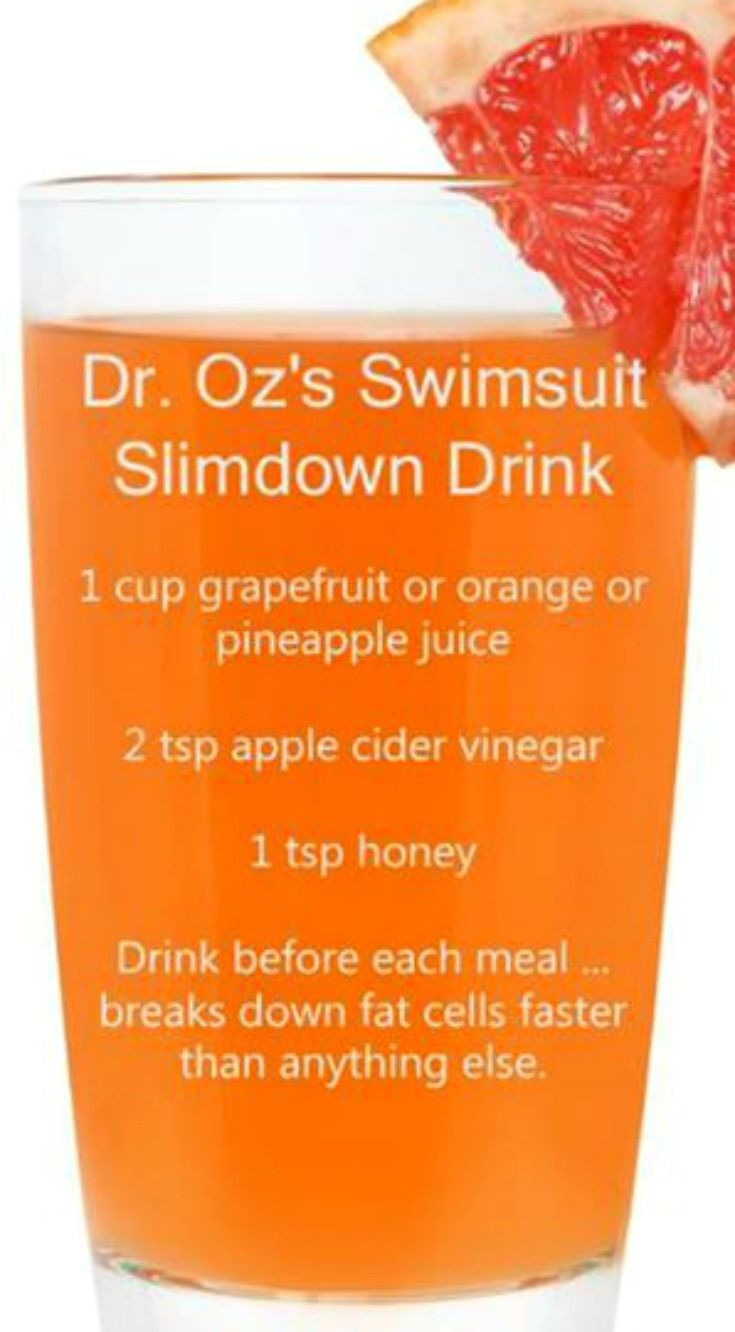 Juicing Recipes For Weight Loss Dr Oz  Dr Oz s Swimsuit Slimdown Drink Recipe