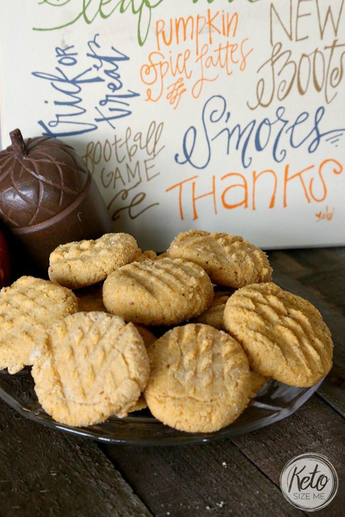 Keto Butter Cookies  Keto Pumpkin Butter Cookies Recipe • Keto Size Me