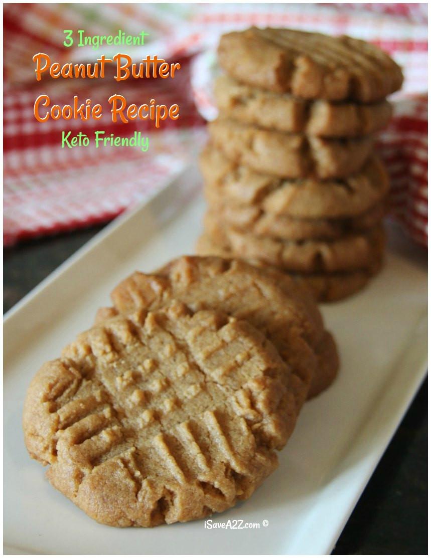 Keto Butter Cookies  3 Ingre nt Keto Peanut Butter Cookies Recipe iSaveA2Z