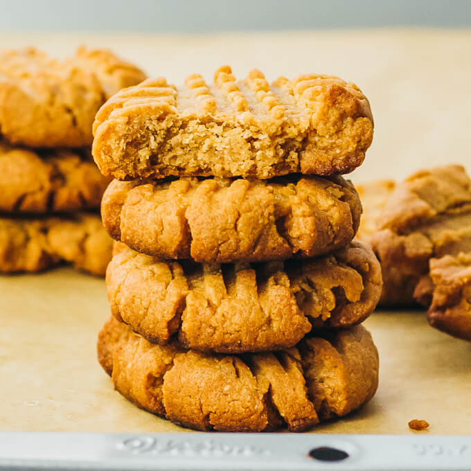 Keto Butter Cookies  Keto Peanut Butter Cookies with Almond Flour or Coconut Flour
