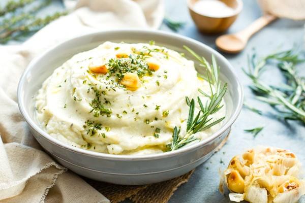 Keto Cauliflower Mash  Roasted Garlic Mashed Cauliflower