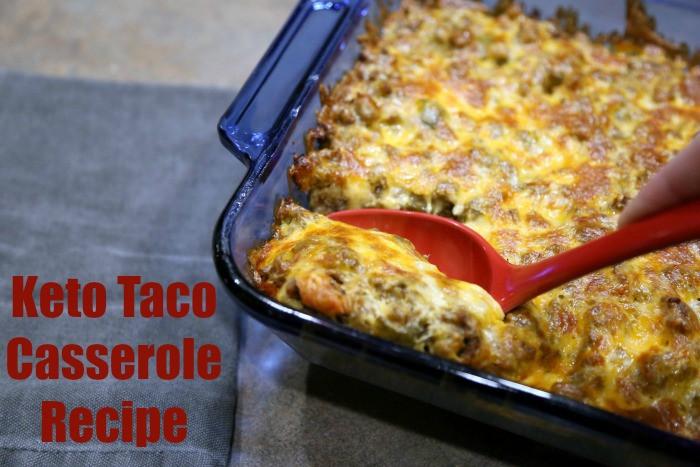 Keto Cheesy Chicken Casserole  Keto Cheesy Taco Casserole Recipe LCHF • Keto Size Me