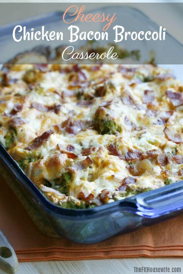 Keto Cheesy Chicken Casserole  Cheesy Chicken Bacon Broccoli Casserole The Fit Housewife