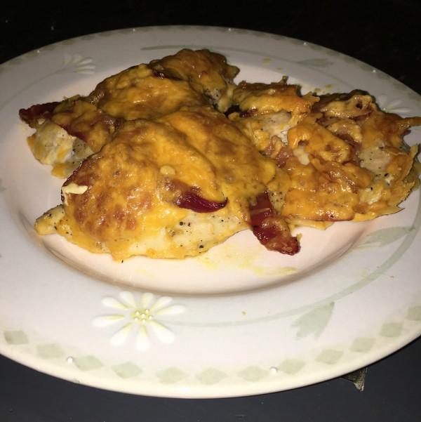 Keto Cheesy Chicken Casserole  Keto Recipe Cheesy Bacon Chicken