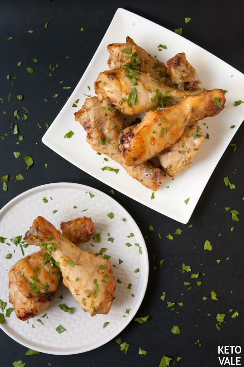 Keto Chicken Legs  Baked Chicken Drumsticks with Mustard and Garlic