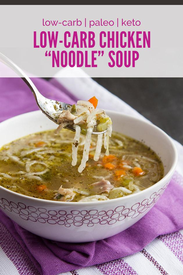 "Keto Chicken Noodle Soup  Low Carb Keto Chicken ""Noodle"" Soup"