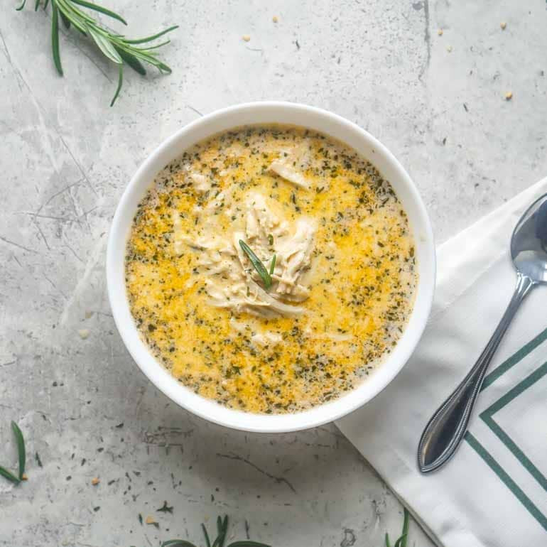 Keto Chicken Noodle Soup  keto chicken soup