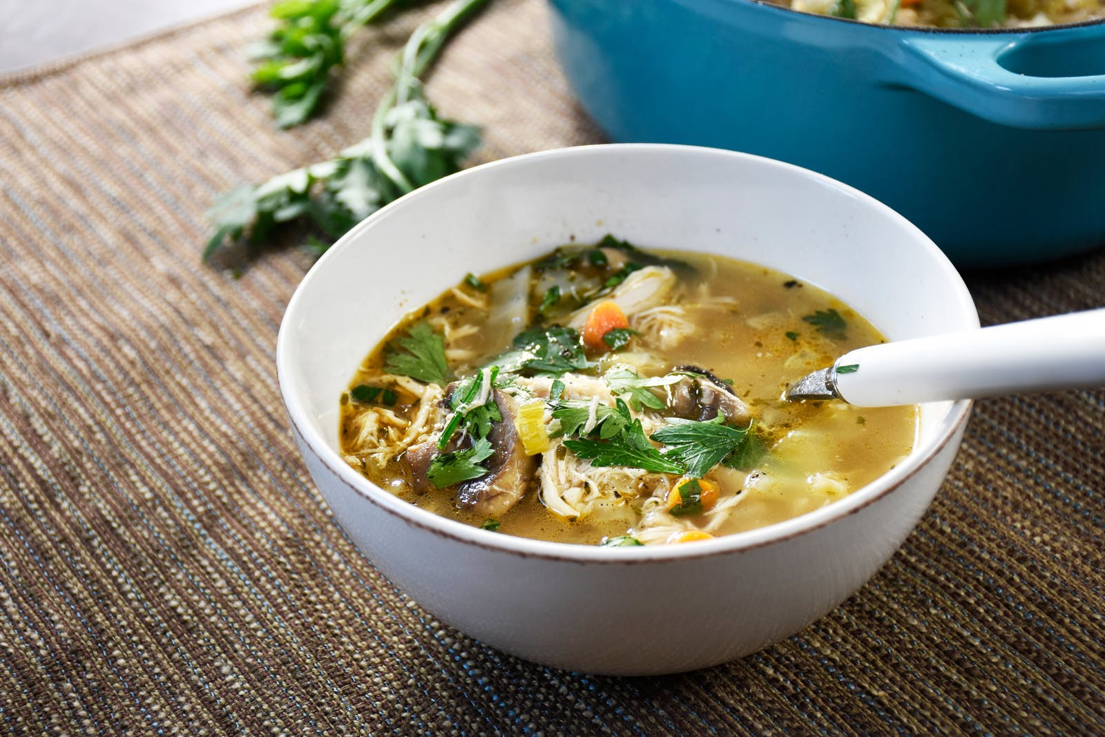 Keto Chicken Noodle Soup  Keto No Noodle Chicken Soup with Cabbage — Diet Doctor