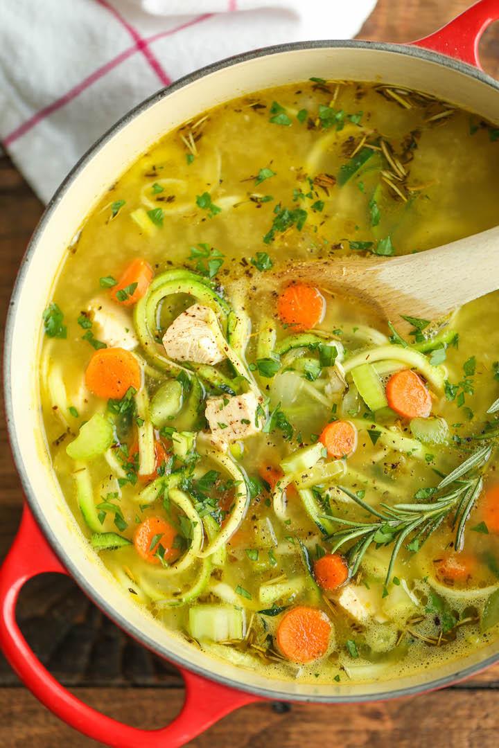 Keto Chicken Noodle Soup  8 Ketogenic Chicken Soup Recipes Primal Edge Health
