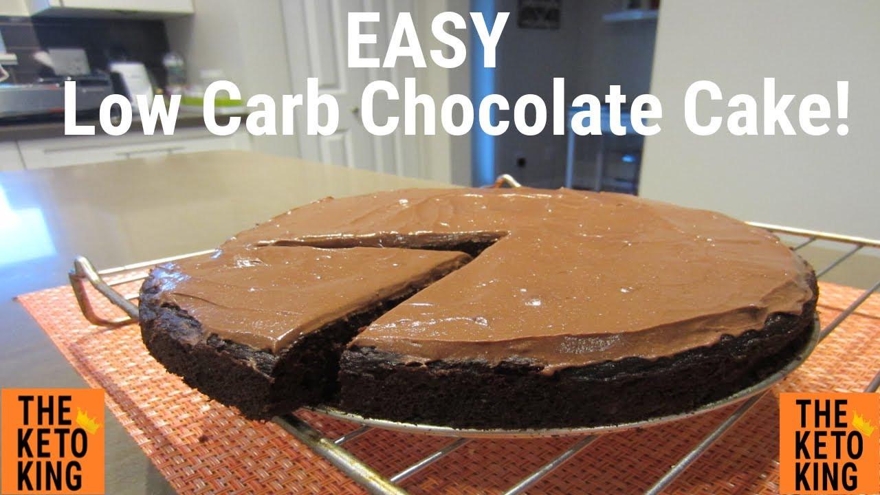 Keto Chocolate Zucchini Cake  EASY Low Carb Chocolate Cake SO EASY