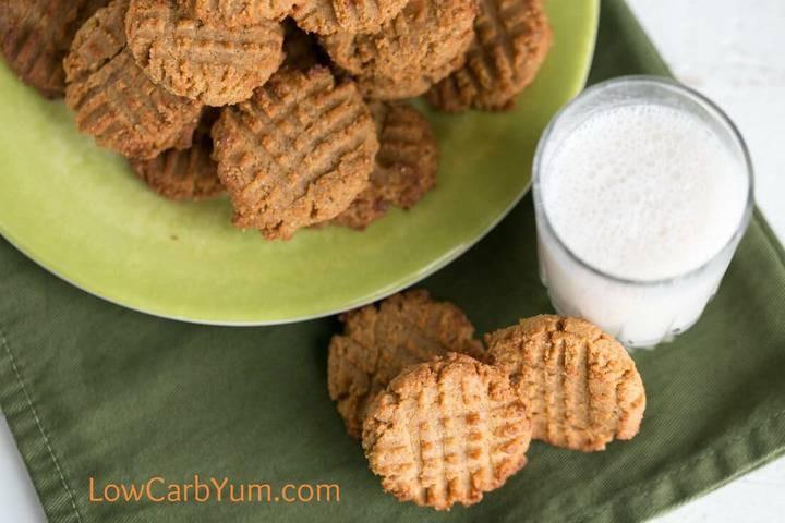Keto Coconut Flour Peanut Butter Cookies  Low Carb Peanut Butter Cookies with Coconut Flour