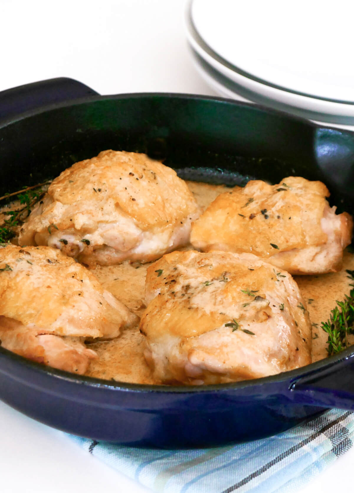 Keto Crispy Chicken Thighs  Easy Keto Dijon Chicken Thighs