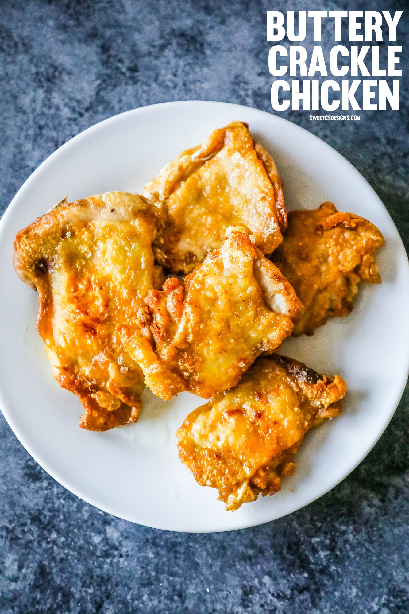Keto Crispy Chicken Thighs  Easy Low Carb Keto Buttery Crackle Chicken Thighs