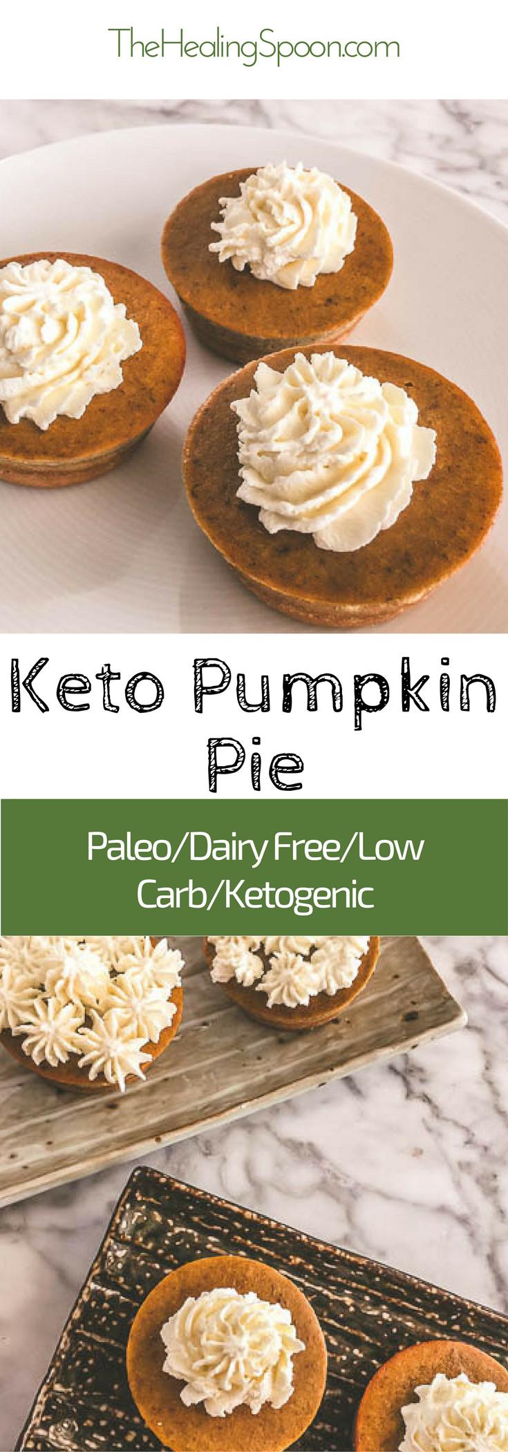 Keto Dairy Free Desserts  keto low carb dairy free paleo mini pumpkin pie