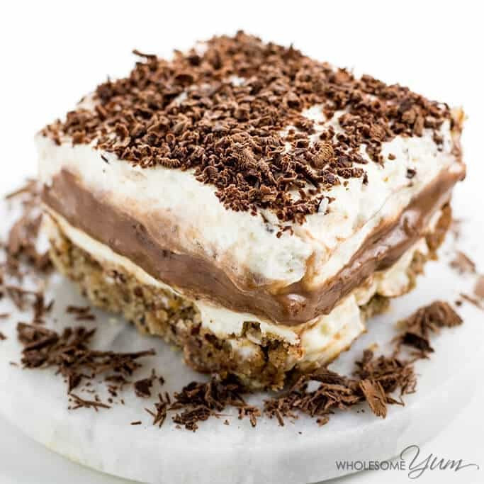 Keto Dairy Free Desserts  in a Pan Dessert Recipe Sugar free Low Carb Gluten